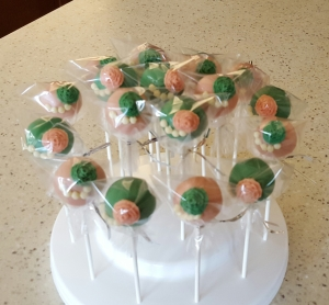 Sorority Cake Pops -Pretty in Pearls