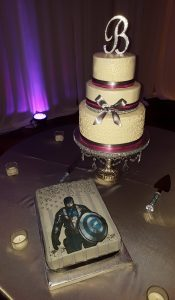 Wedding and Groom's Cake - Captain America / Philadelphia Eagles Fan!